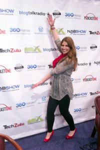 I'm having fun at the New Media Expo in Las Vegas!